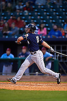 San Antonio Missions catcher Griff Erickson (11) at bat during a game against the NW Arkansas Naturals on May 30, 2015 at Arvest Ballpark in Springdale, Arkansas.  San Antonio defeated NW Arkansas 5-2.  (Mike Janes/Four Seam Images)