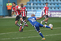 Jordan Graham of Gillingham takes a shot at the Exeter goal during Gillingham vs Exeter City, Emirates FA Cup Football at the MEMS Priestfield Stadium on 28th November 2020