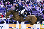 OMAHA, NEBRASKA - MAR 30: Henrik von Eckermann rides Mary Lou during the FEI World Cup Jumping Final I at the CenturyLink Center on March 30, 2017 in Omaha, Nebraska. (Photo by Taylor Pence/Eclipse Sportswire/Getty Images)
