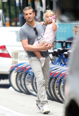 NEW YORK, NY- June 10: Bradley Cooper with daughter Lea Cooper seen in Soho in New York City on June 10, 2021. Credit: RW/MediaPunch