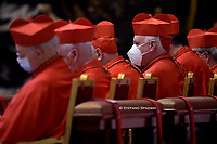 Pope Francis the ceremony of the Good Friday Passion of the Lord Mass in Saint Peter's Basilica at the Vatican.April 2, 2021