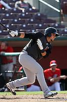 Carlos Ramirez #4 of the High Desert Mavericks bats against the Inland Empire 66'ers at San Manuel Stadium on April 29, 2012 in San Bernardino,California. Inland Empire defeated High Desert 3-0.(Larry Goren/Four Seam Images)