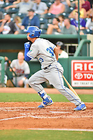 Southern Divisions designated hitter Nick Pratto (30) of the Lexington Legends swings at a pitch during the South Atlantic League All Star Game at First National Bank Field on June 19, 2018 in Greensboro, North Carolina. The game Southern Division defeated the Northern Division 9-5. (Tony Farlow/Four Seam Images)