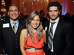 From left: George Soriano, Sara Catsulis and Emiliano Pelegri at the UK Energy Excellence reception at the Hilton Post Oak Hotel Monday April 30,2012. (Dave Rossman Photo)