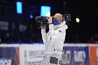 SPEEDSKATING: DORDRECHT: 07-03-2021, ISU World Short Track Speedskating Championships, Cameraman, ©photo Martin de Jong