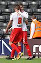 James Dunne of Stevenage  (l) celebrates with Robin Shroot<br />  - Notts County v Stevenage - Sky Bet League One - Meadow Lane, Nottingham - 24th August 2013<br /> © Kevin Coleman 2013