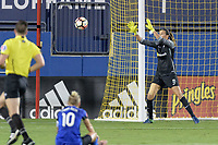 Frisco, TX - Sunday September 03, 2017: Lydia Williams during a regular season National Women's Soccer League (NWSL) match between the Houston Dash and the Seattle Reign FC at Toyota Stadium in Frisco Texas. The match was moved to Toyota Stadium in Frisco Texas due to Hurricane Harvey hitting Houston Texas.
