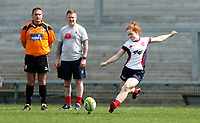 Saturday 20th April 2019   2019 Ulster Women's Junior Cup Final<br /> <br /> Ella Durkan during the Ulster Women's Junior Cup final between Malone and City Of Derry at Kingspan Stadium, Ravenhill Park, Belfast. Northern Ireland. Photo John Dickson/Dicksondigital
