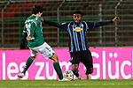 13.01.2021, xtgx, Fussball 3. Liga, VfB Luebeck - SV Waldhof Mannheim emspor, v.l. Mirko Boland (Luebeck, 31), Manfred Osei Kwadwo (Mannheim)<br /> <br /> (DFL/DFB REGULATIONS PROHIBIT ANY USE OF PHOTOGRAPHS as IMAGE SEQUENCES and/or QUASI-VIDEO)<br /> <br /> Foto © PIX-Sportfotos *** Foto ist honorarpflichtig! *** Auf Anfrage in hoeherer Qualitaet/Aufloesung. Belegexemplar erbeten. Veroeffentlichung ausschliesslich fuer journalistisch-publizistische Zwecke. For editorial use only.