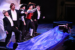 """Kevin Kern, John Treacy Egan, Corey Cott, Tony Yazbeck, Chris Dwan, Alex Newell and cast performing during the MCP Production of """"The Scarlet Pimpernel"""" Concert at the David Geffen Hall on February 18, 2019 in New York City."""