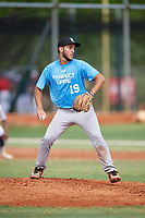 Fernando Fernandez (19) during the WWBA World Championship at the Roger Dean Complex on October 11, 2019 in Jupiter, Florida.  Fernando Fernandez attends Miami Sunset Senior High School in Miami, FL and is Uncommitted.  (Mike Janes/Four Seam Images)