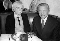 Andy Warhol and Kirk Douglas 1978<br /> Photo By Adam Scull/PHOTOlink/MediaPunch