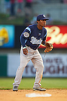 Corpus Christi Hooks second baseman Tony Kemp (7) during a game against the Arkansas Travelers on May 29, 2015 at Dickey-Stephens Park in Little Rock, Arkansas.  Corpus Christi defeated Arkansas 4-0 in a rain shortened game.  (Mike Janes/Four Seam Images)