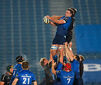 8th January 2021; RDS Arena, Dublin, Leinster, Ireland; Guinness Pro 14 Rugby, Leinster versus Ulster; James Ryan of Leinster collects the line out ball