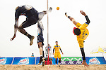 SUAPIMPA Komkid of Thailand Team plays a shot against India during their Beach Sepaktakraw Men's team competition on Day Eight of the 5th Asian Beach Games 2016 at My Khe Beach on 01 October 2016, in Danang, Vietnam. Photo by Marcio Machado / Power Sport Images