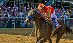 Fiftyshadesofhay, ridden by Joel Rosario and trained by Bob Baffert wins the Black-Eyed Susan Stakes at Pimlico Race Course in Baltimore, Maryland on May 17, 2013.