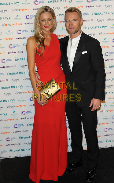 LONDON, UK, NOVEMBER 30: Storm Uechtritz; Ronan Keating at the Emeralds And Ivy Ball, Old Billingsgate Market on November 30th, 2013 in London, England.<br /> CAP/CJ<br /> ©Chris Joseph/Capital Pictures