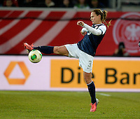 Offenbach, Germany, Friday, April 05 2013: Womans, Germany vs. USA, in the Stadium in Offenbach,   Christie Rampone (USA). .