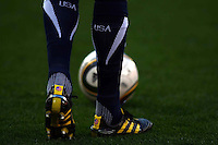 General View of a USA players boots and socks with the Jabulani match ball during game against Slovenia