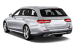 Car pictures of rear three quarter view of 2017 Mercedes Benz E-Class Launch-Edition 5 Door wagon Angular Rear