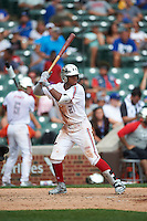 Heliot Ramos (21) of San Juan, Puerto Rico at bat during the Under Armour All-American Game on July 23, 2016 at Wrigley Field in Chicago, Illinois.  (Mike Janes/Four Seam Images)