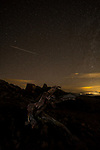 Perseid meteors shoot across upper Goliath Wilderness Area of Mount Evans, Colorado