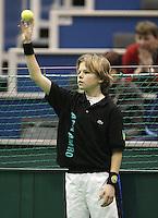 23-2-06, Netherlands, tennis, Rotterdam, ABNAMROWTT,Radek Stepanek in action against Fabrice Santoro in action against Radek Stepanek