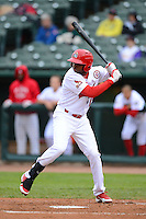 Peoria Chiefs outfielder Michael Swinson #12 during a game against the Wisconsin Timber Rattlers on May 25, 2013 at Dozer Park in Peoria, Illinois.  Peoria defeated Wisconsin 6-0.  (Mike Janes/Four Seam Images)