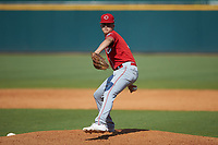 Drew Beam (38) of Blackman HS in Murfreesboro, TN playing for the Cincinnati Reds scout team during the East Coast Pro Showcase at the Hoover Met Complex on August 4, 2020 in Hoover, AL. (Brian Westerholt/Four Seam Images)
