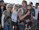 """Kristen Bell,Ryan Hansen & Kirsten Dunst at The Invisible Children's """"THE RESCUE"""" Rally at City Hall in Santa Monica, California on April 25,2009                                                                     Copyright 2009 DVS / RockinExposures"""