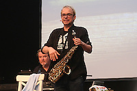 Auftritt von Henni Nachtsheim mit Saxophon