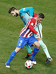 Atletico de Madrid's Fernando Torres (l) and FC Barcelona's Gerard Pique during Spanish Kings Cup semifinal 1st leg match. February 01,2017. (ALTERPHOTOS/Acero)