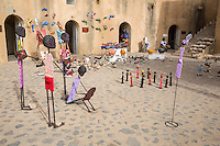 Art Displayed inside the Fort d'Estrees, Biannual Arts Festival, Goree Island, Senegal.