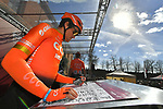 Olympic Champion Greg Van Avermaet (BEL) CCC Team at sign on in Fortezza Medicea before the start of Strade Bianche 2019 running 184km from Siena to Siena, held over the white gravel roads of Tuscany, Italy. 9th March 2019.<br /> Picture: LaPresse/Gian Matteo D'Alberto   Cyclefile<br /> <br /> <br /> All photos usage must carry mandatory copyright credit (© Cyclefile   LaPresse/Gian Matteo D'Alberto)