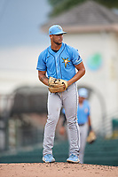 FCL Rays pitcher Sandy Gaston (68) during a game against the FCL Pirates Gold on July 26, 2021 at LECOM Park in Bradenton, Florida. (Mike Janes/Four Seam Images)