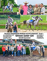 Uptown Sandy Girl winning The Buzz Brauninger Stakes (grade 1) at Delaware Park on 9/8/18