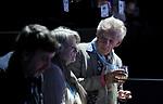 Sir Ian McKellen and Dame Maggie Smith enjoying the tennis<br /> <br /> Photographer Hannah Fountain/CameraSport<br /> <br /> International Tennis - Nitto ATP World Tour Finals Day 7 - O2 Arena - London - Saturday 17th November 2018<br /> <br /> World Copyright © 2018 CameraSport. All rights reserved. 43 Linden Ave. Countesthorpe. Leicester. England. LE8 5PG - Tel: +44 (0) 116 277 4147 - admin@camerasport.com - www.camerasport.com
