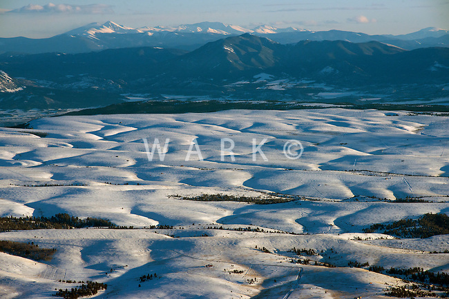 Wet Mountain Valley, south of Westcliffe, Colorado.  Looking south towards Mt. Blanca.  Feb 2013. 82516