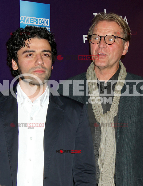April 21, 2012  Oscar Isaac and David Rasche attend the premiere of  Revenge for Jolly -2012 Tribeca Film Festival at the Chelsea Clearview Cinemas  in New York City. © RW/MediaPunch Inc.