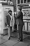 Stop and Search SUS law, Afro Caribbean man stopped and searched by plain clothed detective London 1972.