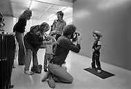 Children work as models for advertising. Hollywood California- Child labor as seen around the world between 1979 and 1980 – Photographer Jean Pierre Laffont, touched by the suffering of child workers, chronicled their plight in 12 countries over the course of one year.  Laffont was awarded The World Press Award and Madeline Ross Award among many others for his work.