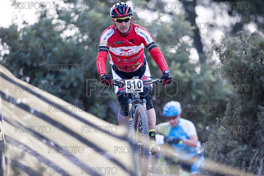 Chelva, SPAIN - MARCH 6: Vicent Bonafe during Spanish Open BTT XCO on March 6, 2016 in Chelva, Spain