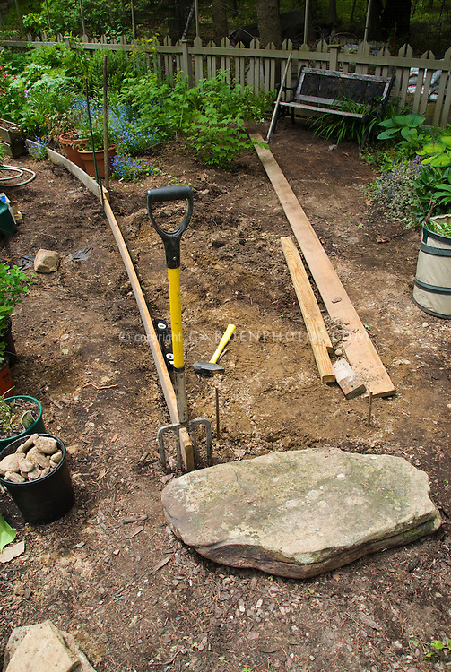 New raised bed for planting in shade soil