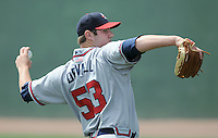 May 18, 2009: LHP Brett DeVall (53) of the Rome Braves, the No. 14 prospect of the Atlanta Braves, in a game against the Greenville Drive at Fluor Field at the West End in Greenville, S.C. Photo by: Tom Priddy/Four Seam Images