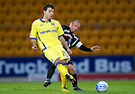St Johnstone v Kilmarnock....06.11.10  .Alexei Eremenico is tackled by Jody Morris.Picture by Graeme Hart..Copyright Perthshire Picture Agency.Tel: 01738 623350  Mobile: 07990 594431