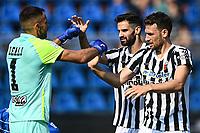 Mg Como 11/09/2021 - campionato di calcio serie B / Como-Ascoli / photo Image Sport/Insidefoto<br /> nella foto: esultanza a fine gara Ascoli