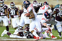 Ole Miss running back I'Tavius Mathers (5) rushes with the ball during second half of an NCAA football game, Saturday, October 11, 2014 in College Station, Tex. Ole Miss defeated Texas A&M 35-20. (Mo Khursheed/TFV Media via AP Images)