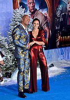 "LOS ANGELES, USA. December 10, 2019: Dwayne Johnson & Lauren Hashian at the world premiere of ""Jumanji: The Next Level"" at the TCL Chinese Theatre.<br /> Picture: Paul Smith/Featureflash"