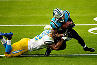 Photography of the Carolina Panthers v. The Los Angles Chargers at SoFi Stadium in Los Angles, CA.<br /> <br /> Charlotte Photographer - PatrickSchneiderPhoto.com