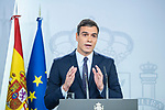 "The president of the Spanish Government, Pedro Sanchez, arrives at his appearance on the sentence of ""proces"" in the Moncloa palace<br />  October 14, 2019. <br /> (ALTERPHOTOS/David Jar)"